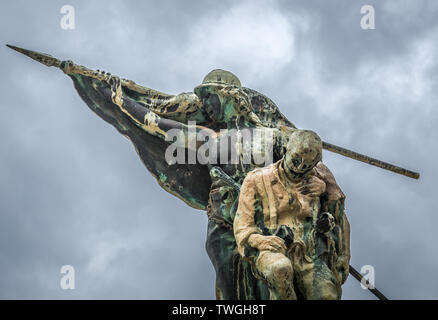 Monument 'For sons of Noto killed in Great War 1915-1918' in Noto city, Sicily in Italy - Stock Image