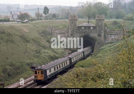 Brighton Belle Exits Clayton Tunnel -2 - Stock Image