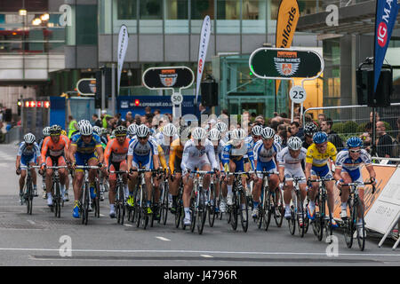 Cyclists racing, Halfords Tour Series Race at Canary Wharf, London, England<a href='https://prime.500px.com/photos/126676325'>License - Stock Image