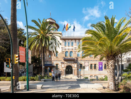 Malaga University Rectorate, Recorate's Building. UMA, Universidad de Málaga. - Stock Image