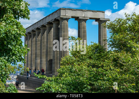 The National Monument of Scotland, Calton Hill, Edinburgh, Scotland, UK - Stock Image