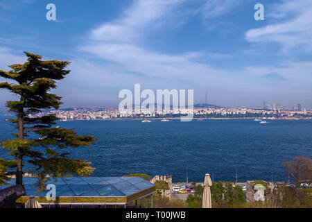 Sights of the city of Istanbul architecture and boat trips on ships - Stock Image