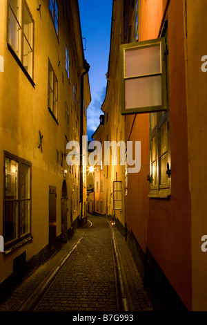 old town street stockholm - Stock Image