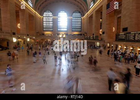 Main Concourse, Grand Central Terminal, Manhattan, New York, USA - Stock Image