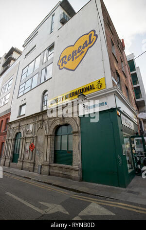 Amnesty International dublin office on the corner of fleet street and parliament row Dublin Republic of Ireland Europe - Stock Image