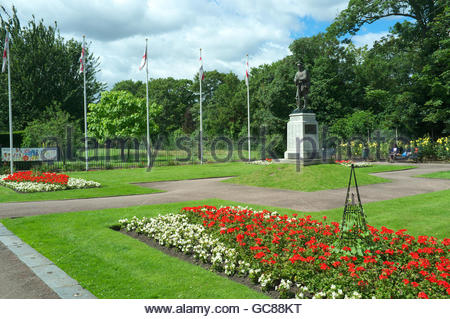 War memorial in Central Park, in Dartford, Kent, UK. - Stock Image