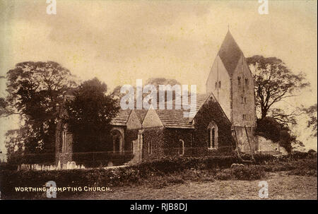 St Mary's parish church, Sompting, West Sussex. - Stock Image