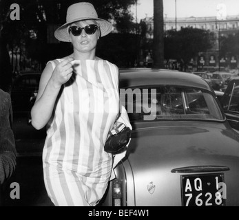 Swedish actress Anita Ekberg. - Stock Image