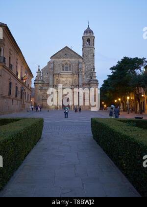 Church of El Salvador - Unesco World Heritage -. Úbeda, Jaén, Andalusia, Spain. - Stock Image