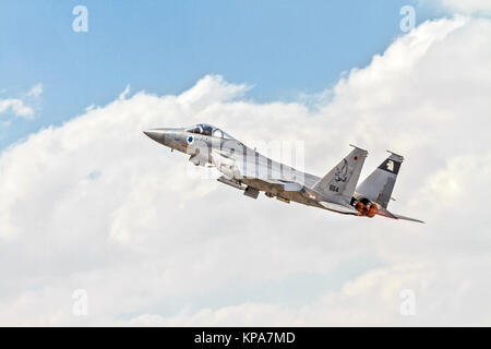 """Israeli Air Force (IAF) McDonnell Douglas F-15A in flight.  Photographed at the  """"Blue-Flag"""" 2017, an international - Stock Image"""