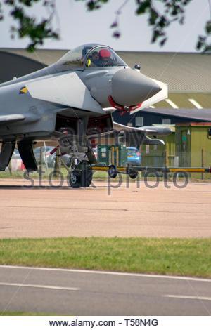 Eurofighter Typhoon taxiing towards taking off - Stock Image