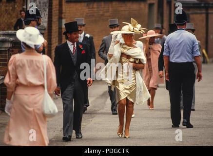 Ascot Races, Ascot, Berkshire England June 1986 - Stock Image