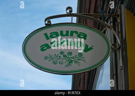 Laura Ashley Sign - Stock Image