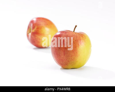 close up of an apple on a white background - Stock Image