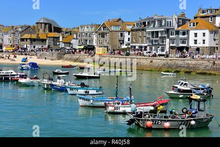 St Ives,Harbour,Cornwall,England,UK - Stock Image