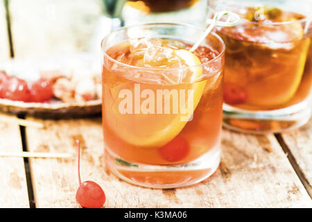 old fashion martini, cocktail - Stock Image