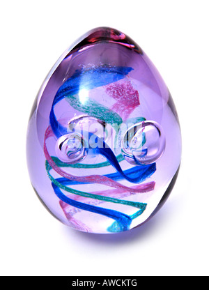 Caithness Eggstravaganza Glass Paperweight FOR EDITORIAL USE ONLY - Stock Image