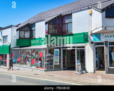 7 July 2018: Bude, Cornwall, UK - Wroes Department store in Belle View, Bude, Cornwall, UK. - Stock Image