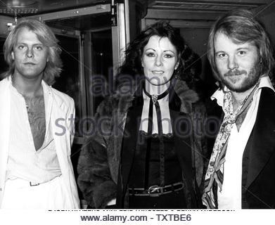 ABBA, Bjorn Ulvaeus, Benny Andersson, Anni-Frid Lyngstad. Credit: 348950_Globe Photos/MediaPunch - Stock Image