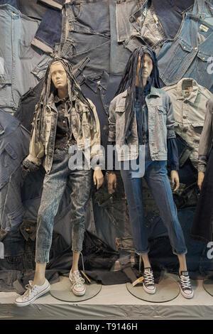 beyond retro vintage clothes store brick lane - Stock Image
