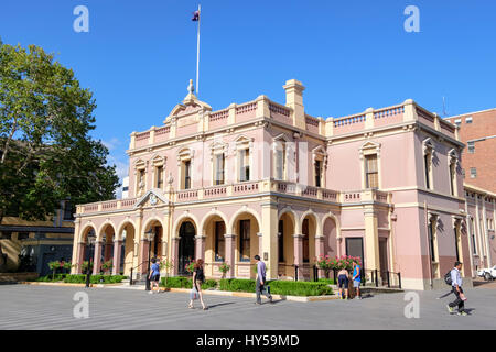 Parramatta Town Hall, in a pedestrianised section of Church Street in the centre of Parramatta. This suburb is often - Stock Image