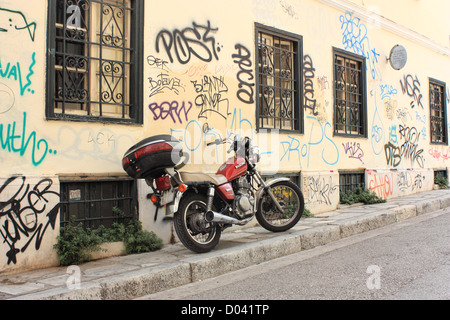Graffiti in Athens - Stock Image