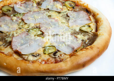 pizza, different pizza types on the menu and a pizzeria, a variety of pizzas, tasty food, delicious food, the skill - Stock Image