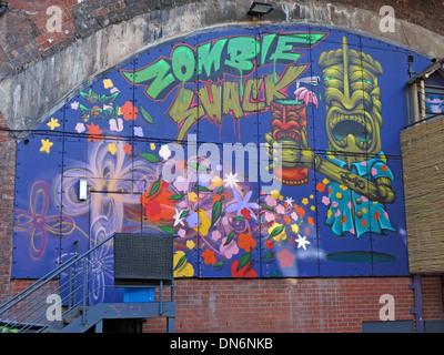 Zombie Shack Graffiti Oxford Road Manchester - Stock Image