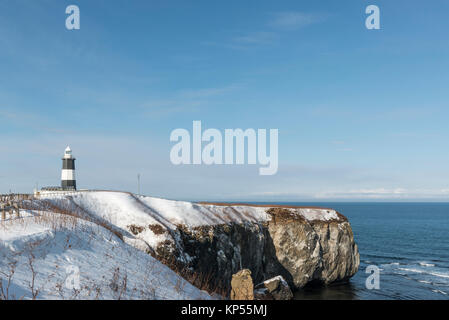 Cape Notoro lighthouse, Hokkaido, Japan - Stock Image