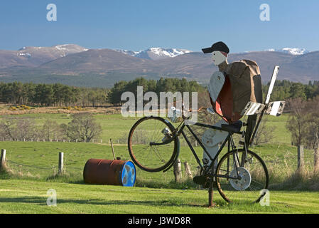 Local garden art in Strathspey, Inverness-shire. - Stock Image