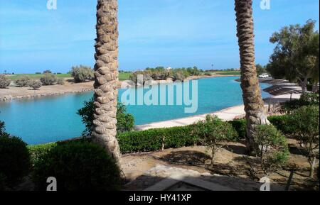 View Of Swimming Pool At Beach - Stock Image