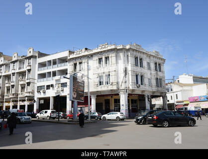 Old colonial buildings in Casablanca's city center. - Stock Image