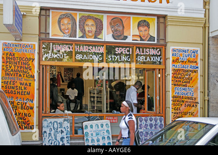 south africa cape town hairdresser near green market - Stock Image