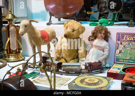 Collection of antique toys. - Stock Image