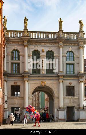 The Golden Gate, Złota Brama, Gdansk, Poland - Stock Image
