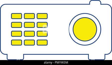 Video projector icon. Thin line design. Vector illustration. - Stock Image