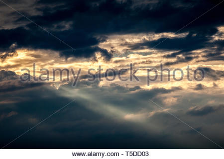 When the sky opens - Stock Image