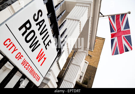 Savile Row London Britain - Stock Image