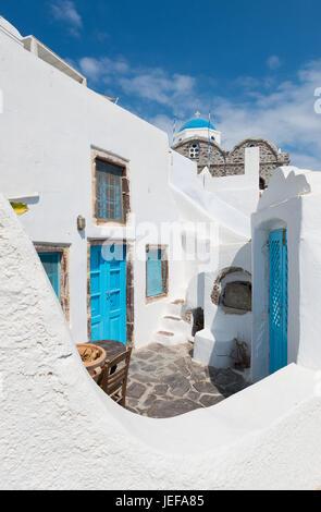 Beautiful houses at Santorini oia - Stock Image