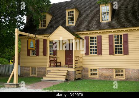 Historic home at Colonial Williamsburg, Virginia, USA - Stock Image