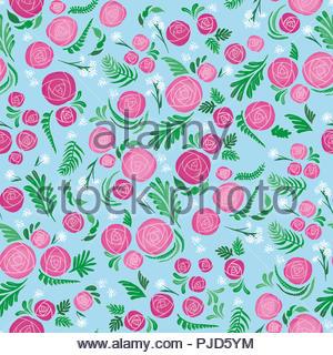 borderless flower pattern - Stock Image