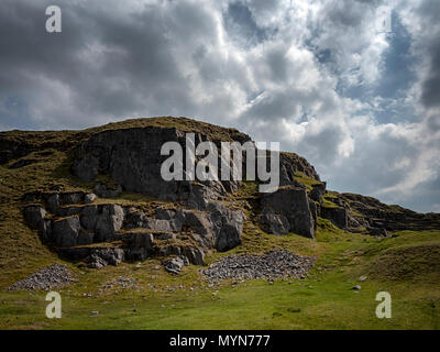 Black Mountain quarries, Brecon Beacons, Wales - Stock Image