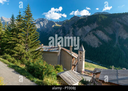 Saint-Véran, High Alps, France, 09/2016 The village of Saint Veran, the highest in France, On the list on the most beautiful villages of France. - Stock Image