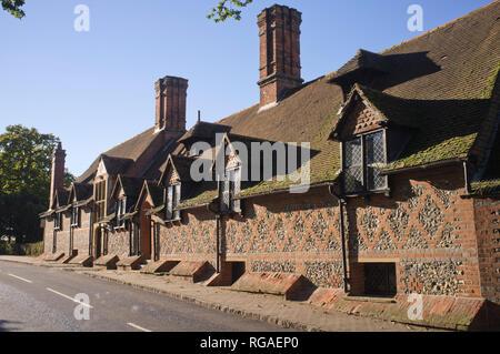 Original school buildings at Bradfield College, Berkshire, - Stock Image