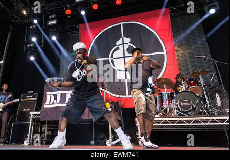 London, UK, 28 June 2015. Public Enemy Live Performance at Wireless Festival, Finsbury Park  Credit:  Robert Stainforth/Alamy - Stock Image