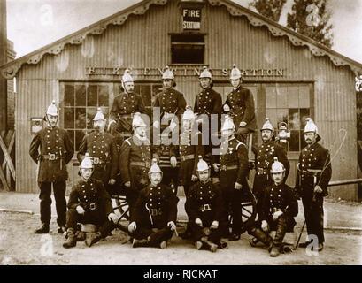 Group photo, Epsom Fire Station, Surrey. - Stock Image