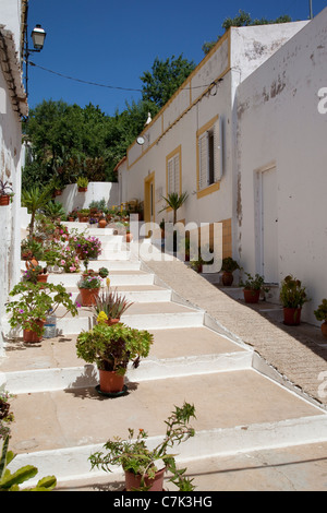 Portugal, Algarve, Alvor, Backstreet - Stock Image