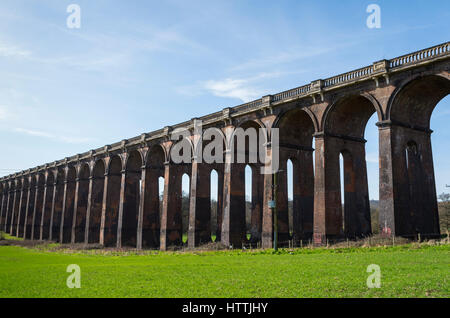 Wide angle view of the Ouse Valley (Balcombe) Viaduct in West Sussex, UK - Stock Image