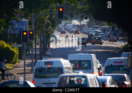 Traffic congestion & pollution - Stock Image