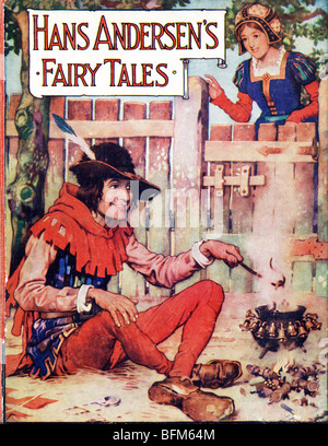 Hardback Book Hans Andersen 's Fairy Tales published by by J Coker & Co of London c 1930  by Harry Clarke - Stock Image